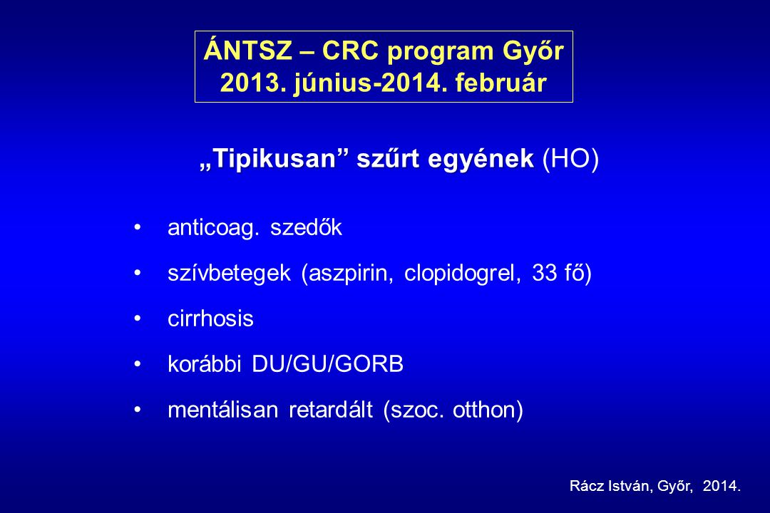 ÁNTSZ – CRC program Győr