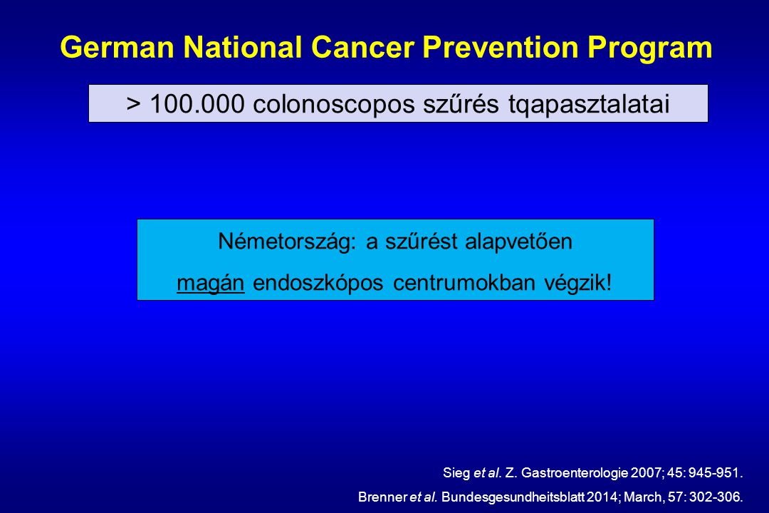 German National Cancer Prevention Program