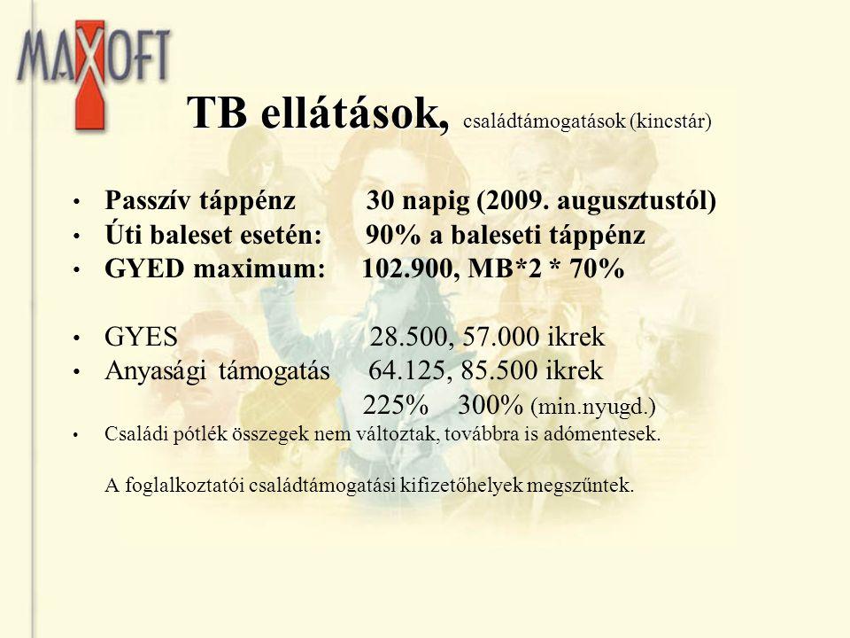 TB ellátások, családtámogatások (kincstár)