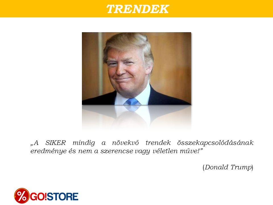 """TRENDEK """"A SIKER mindig a növekvő trendek összekapcsolódásának eredménye és nem a szerencse vagy véletlen műve!"""