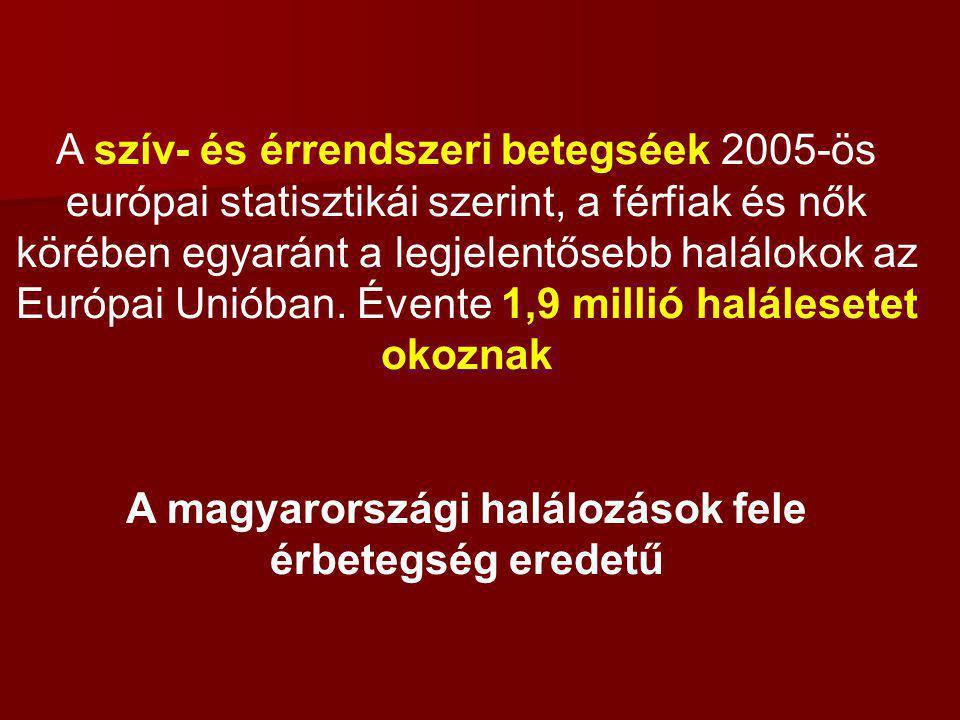 A magyarországi halálozások fele érbetegség eredetű