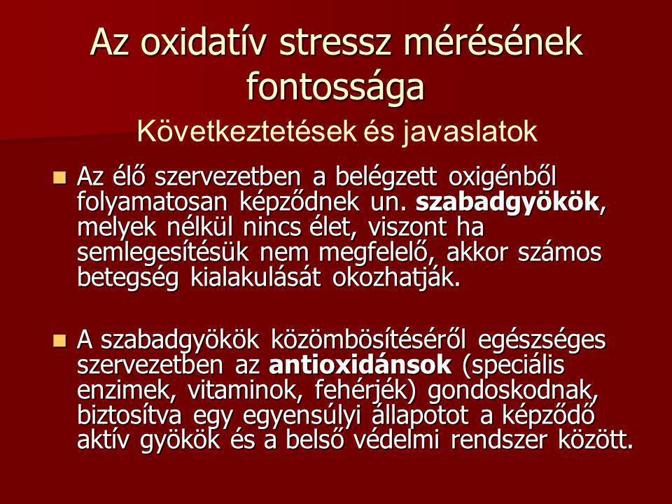 Az oxidatív stressz mérésének fontossága