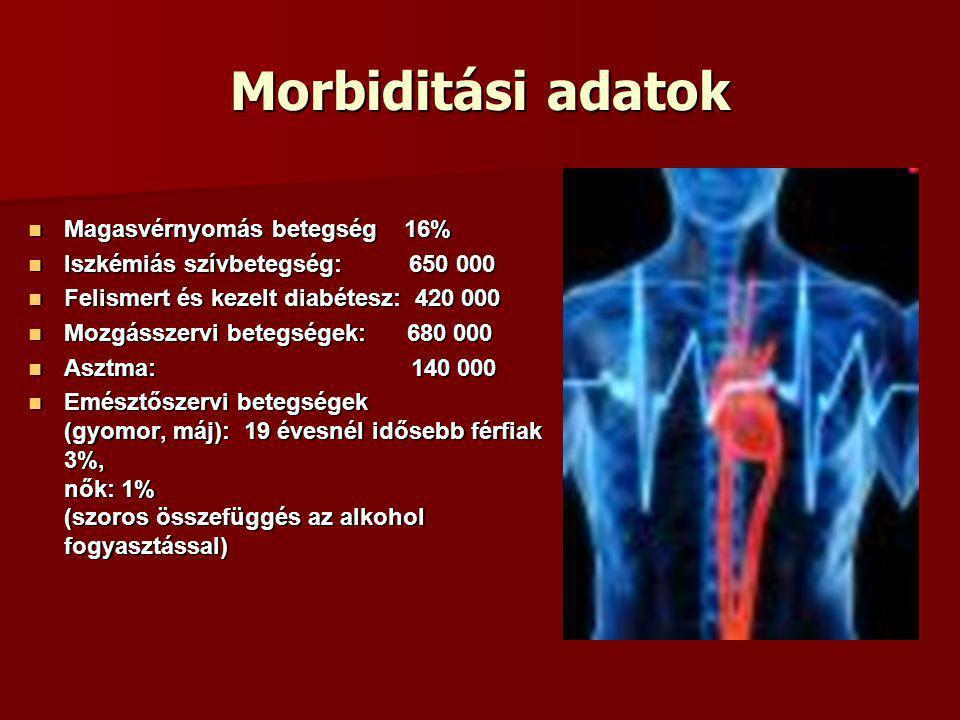 Morbiditási adatok Magasvérnyomás betegség 16%