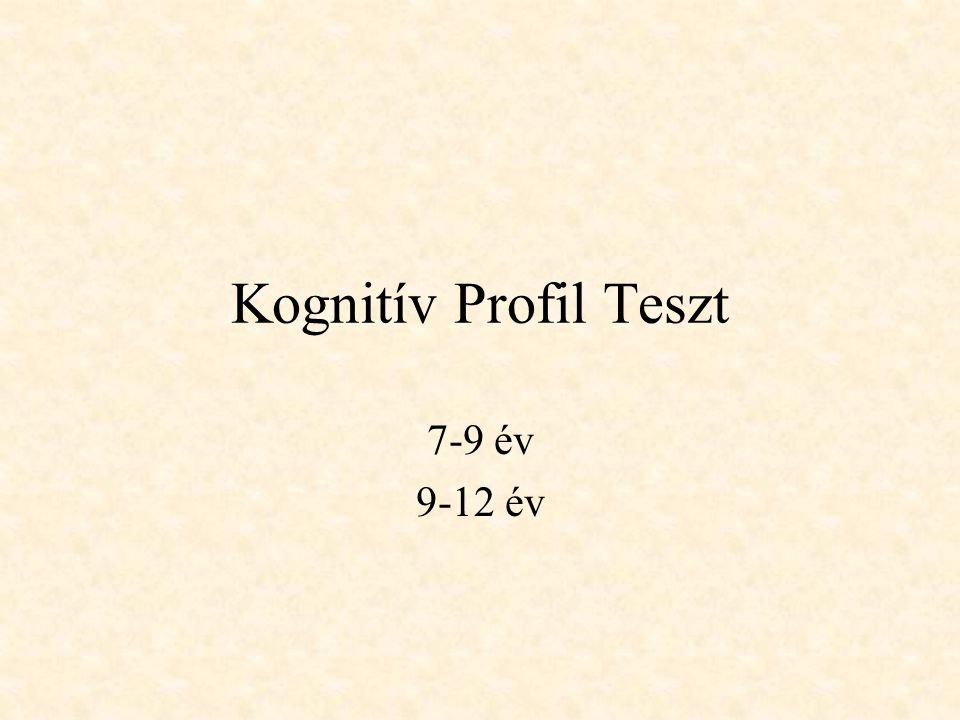 Kognitív Profil Teszt 7-9 év 9-12 év