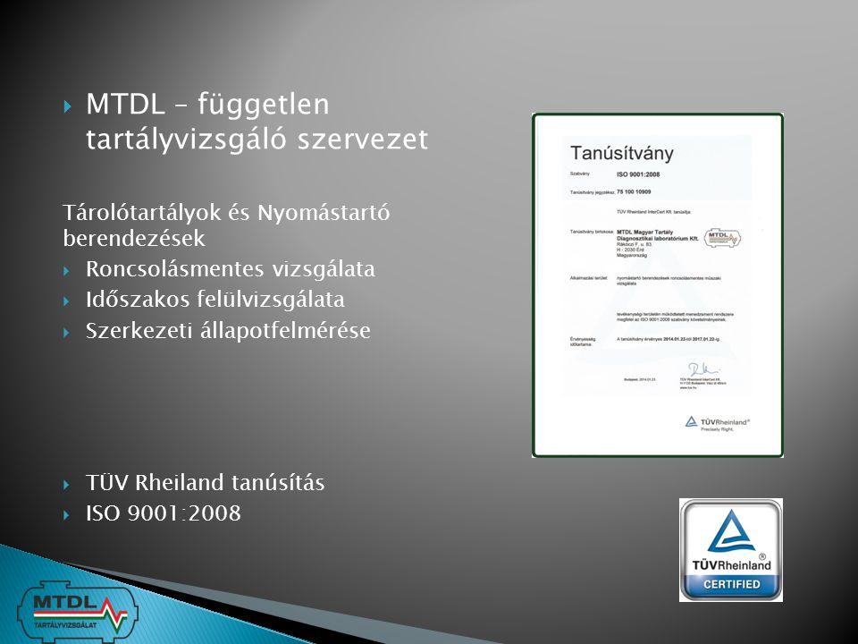 MTDL – független tartályvizsgáló szervezet
