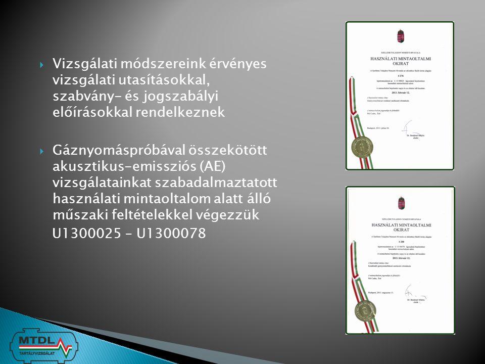 Vizsgálati módszereink érvényes vizsgálati utasításokkal, szabvány- és jogszabályi előírásokkal rendelkeznek