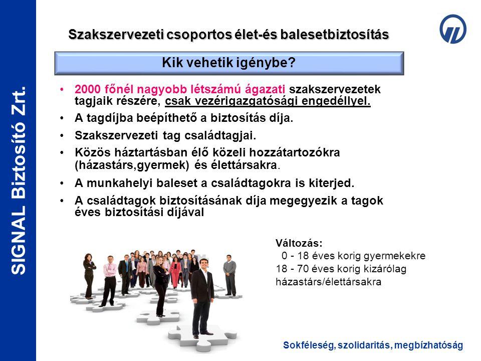 Szakszervezeti csoportos élet-és balesetbiztosítás