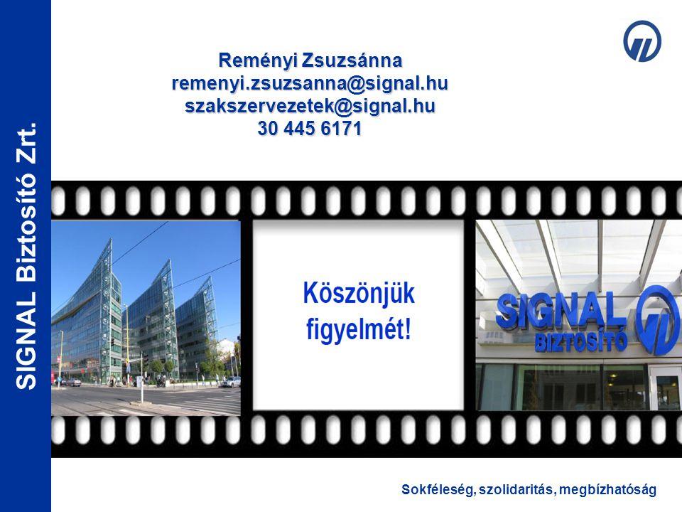 Reményi Zsuzsánna remenyi. zsuzsanna@signal. hu szakszervezetek@signal