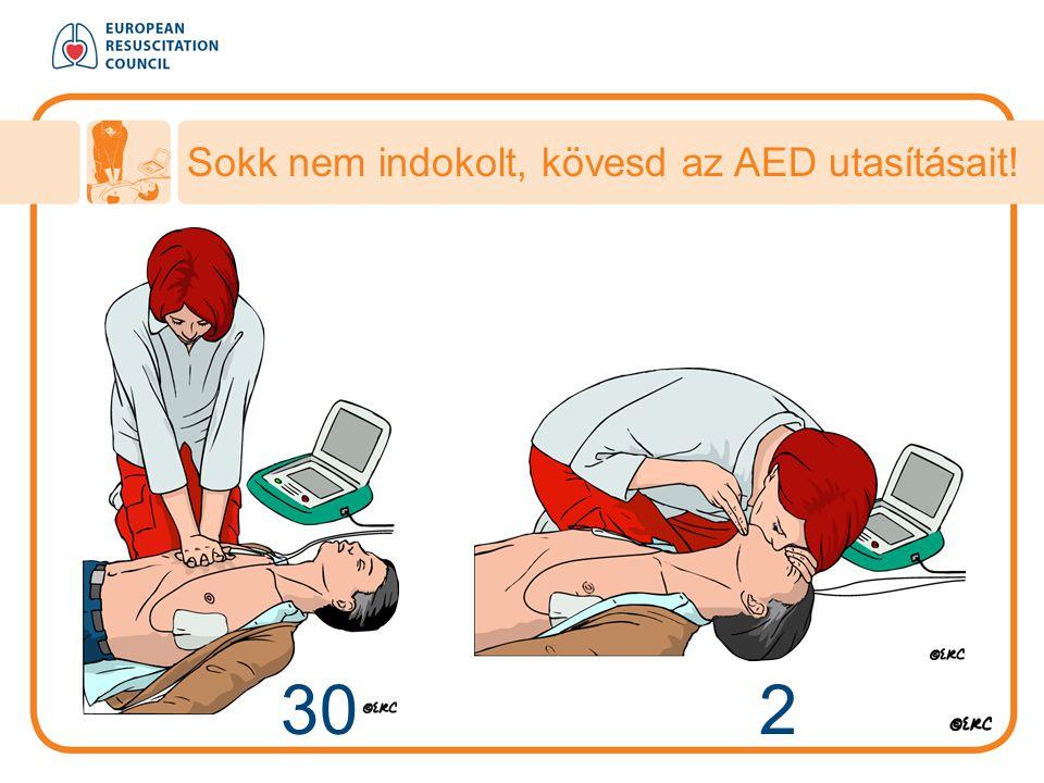 Sokk nem indokolt, kövesd az AED utasításait!