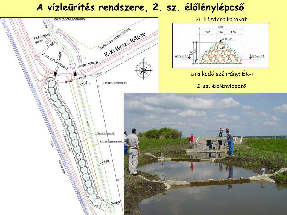 A vízleürítés rendszere, 2. sz. élőlénylépcső