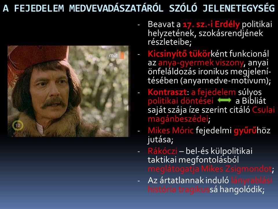 A FEJEDELEM MEDVEVADÁSZATÁRÓL SZÓLÓ JELENETEGYSÉG
