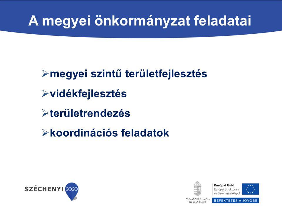 A megyei önkormányzat feladatai