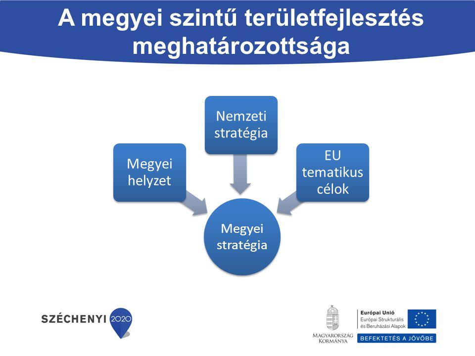A megyei szintű területfejlesztés meghatározottsága