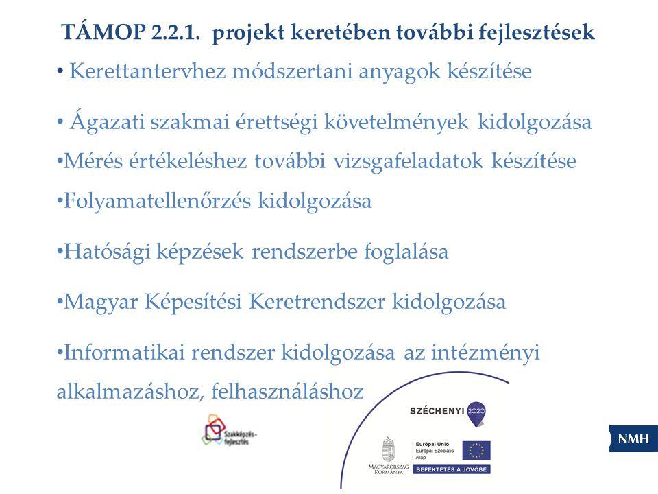 TÁMOP 2.2.1. projekt keretében további fejlesztések