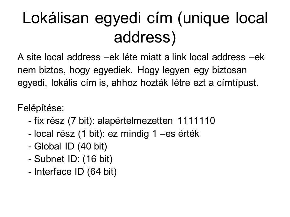 Lokálisan egyedi cím (unique local address)