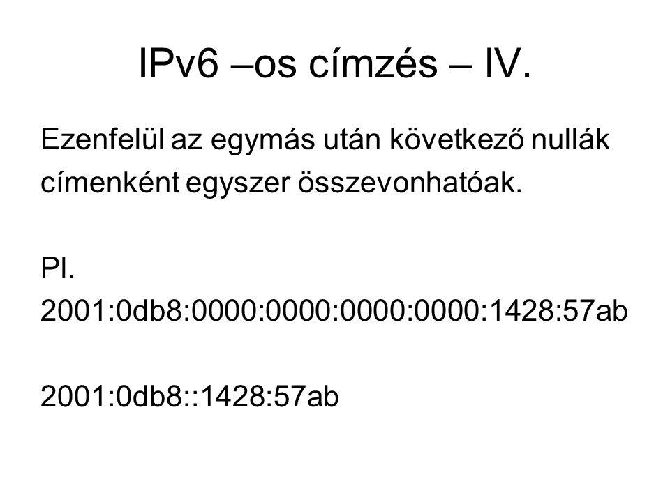 IPv6 –os címzés – IV. Ezenfelül az egymás után következő nullák