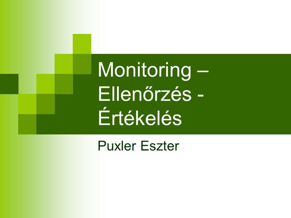 Monitoring – Ellenőrzés - Értékelés