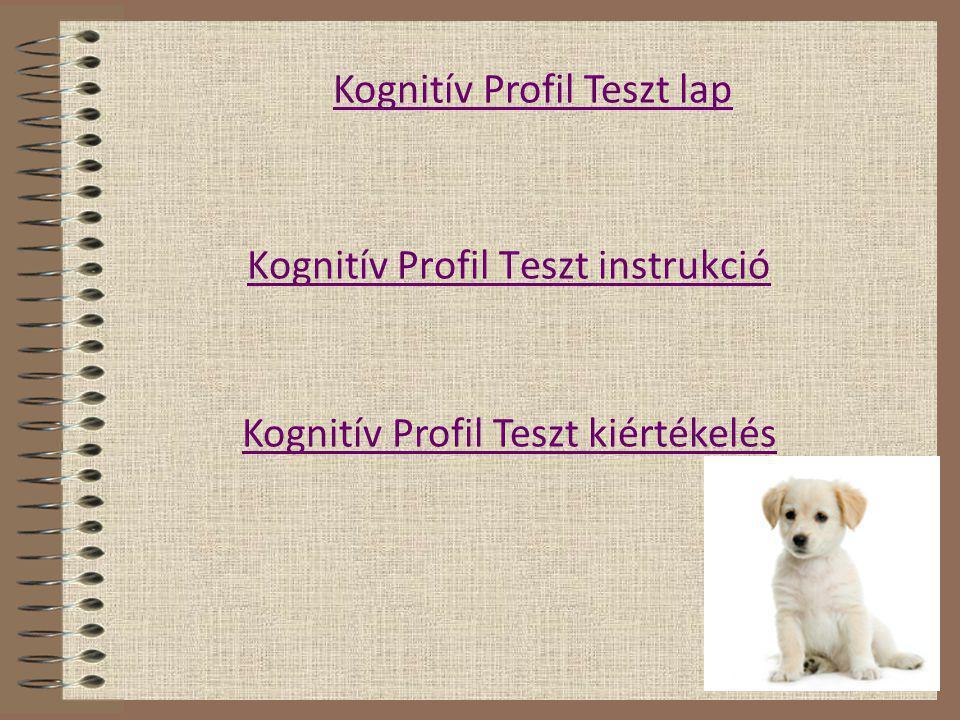 Kognitív Profil Teszt instrukció