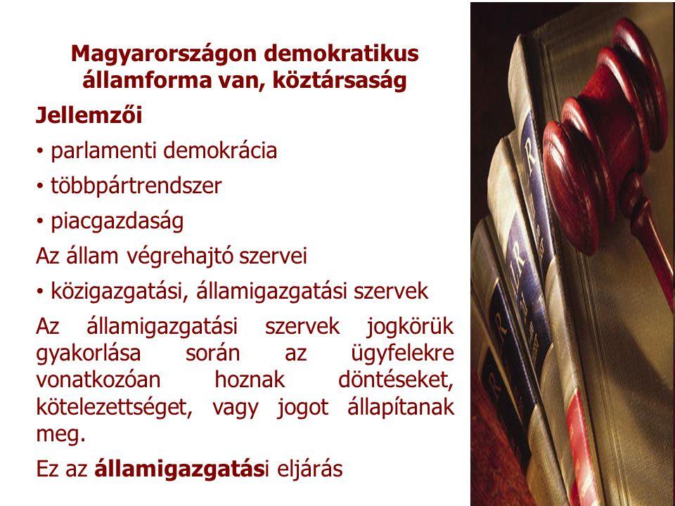 Magyarországon demokratikus államforma van, köztársaság