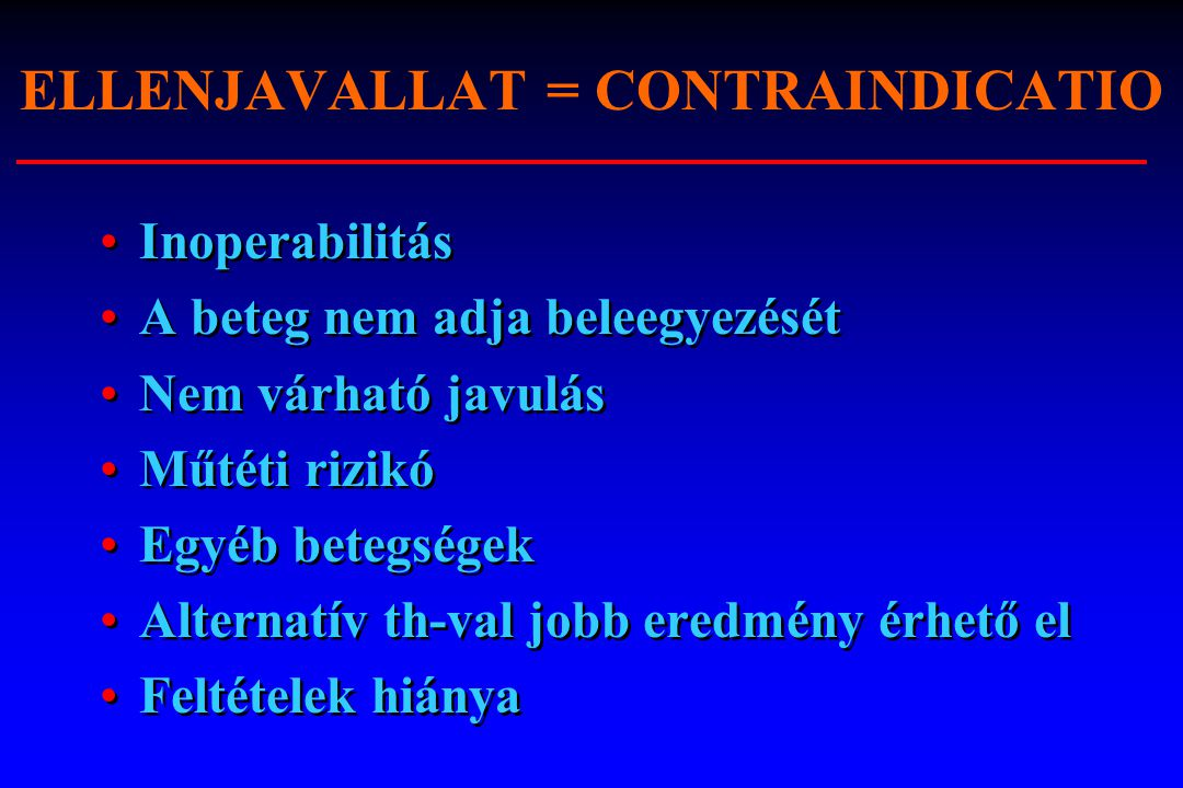 ELLENJAVALLAT = CONTRAINDICATIO
