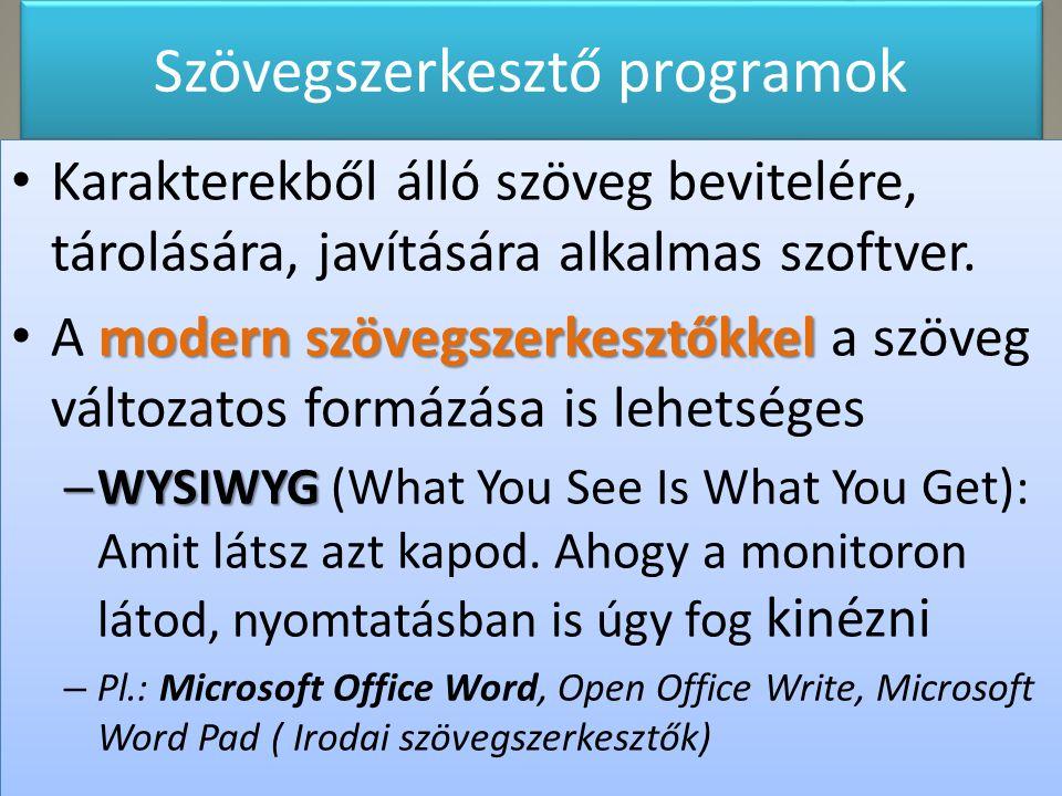Szövegszerkesztő programok