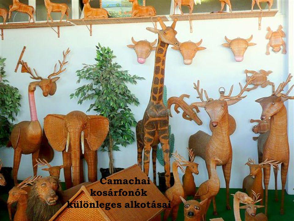 Camachai kosárfonók különleges alkotásai