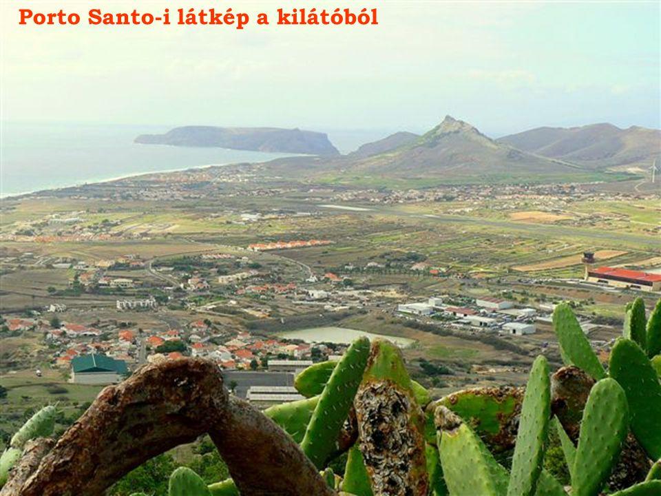 Porto Santo-i látkép a kilátóból