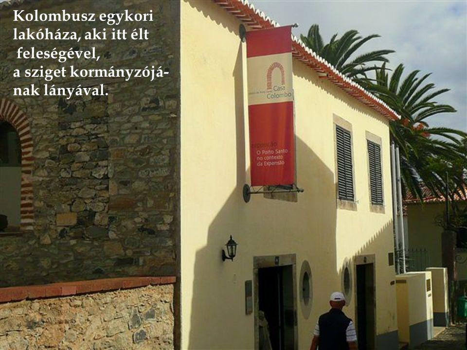 Kolombusz egykori lakóháza, aki itt élt feleségével, a sziget kormányzójá- nak lányával.