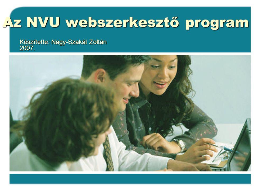 Az NVU webszerkesztő program