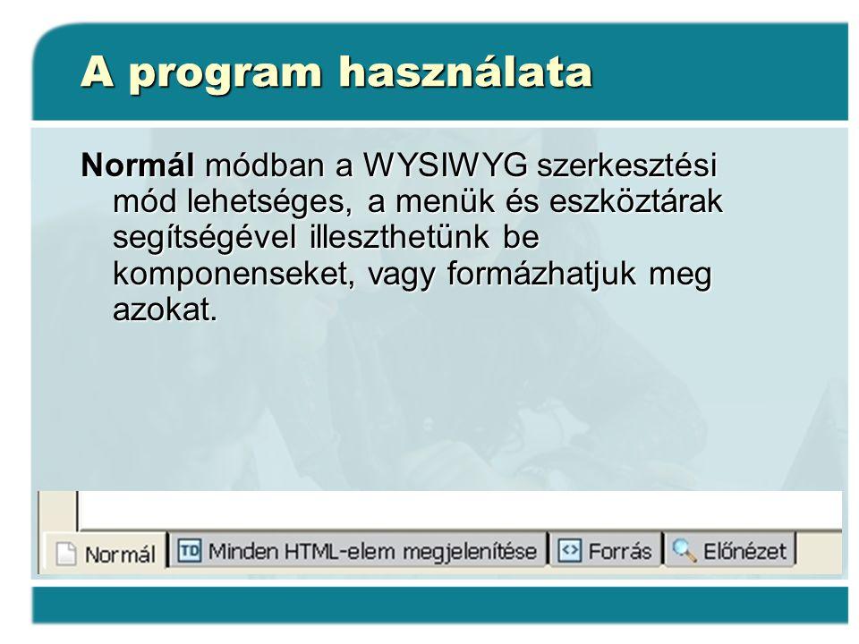 A program használata