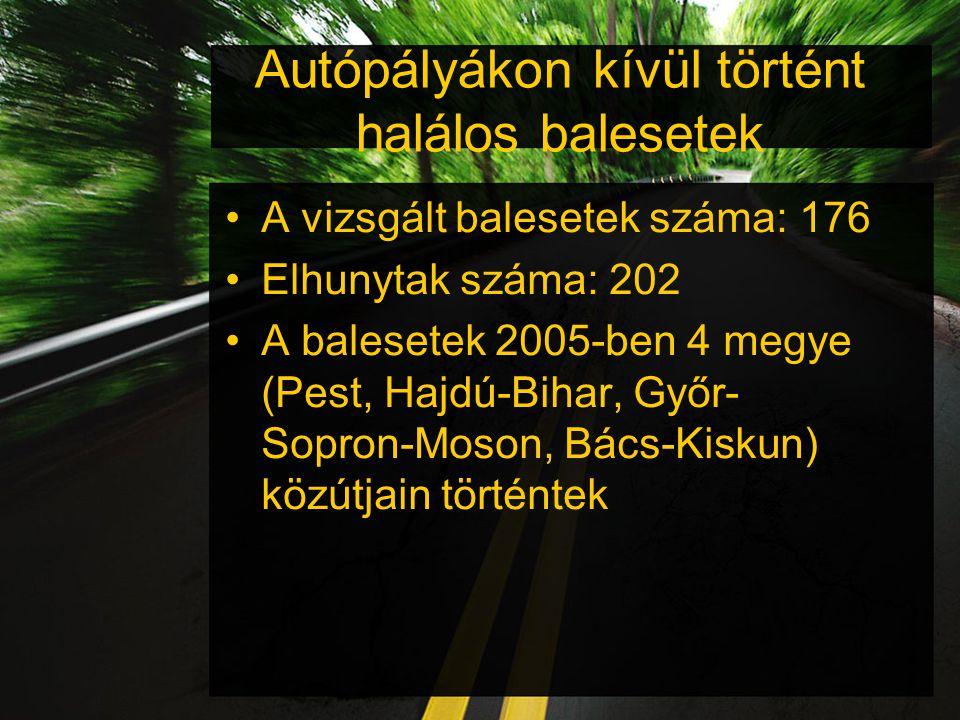 Autópályákon kívül történt halálos balesetek