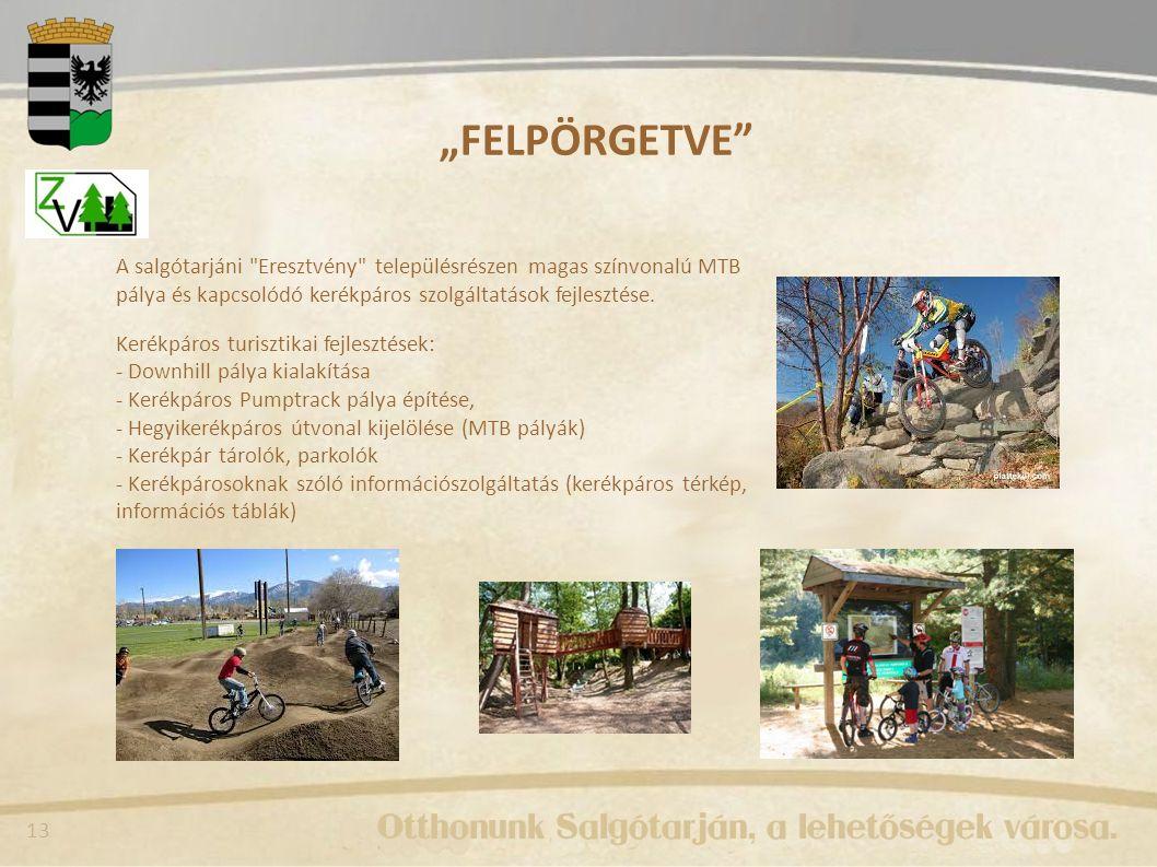"""""""FELPÖRGETVE A salgótarjáni Eresztvény településrészen magas színvonalú MTB pálya és kapcsolódó kerékpáros szolgáltatások fejlesztése."""
