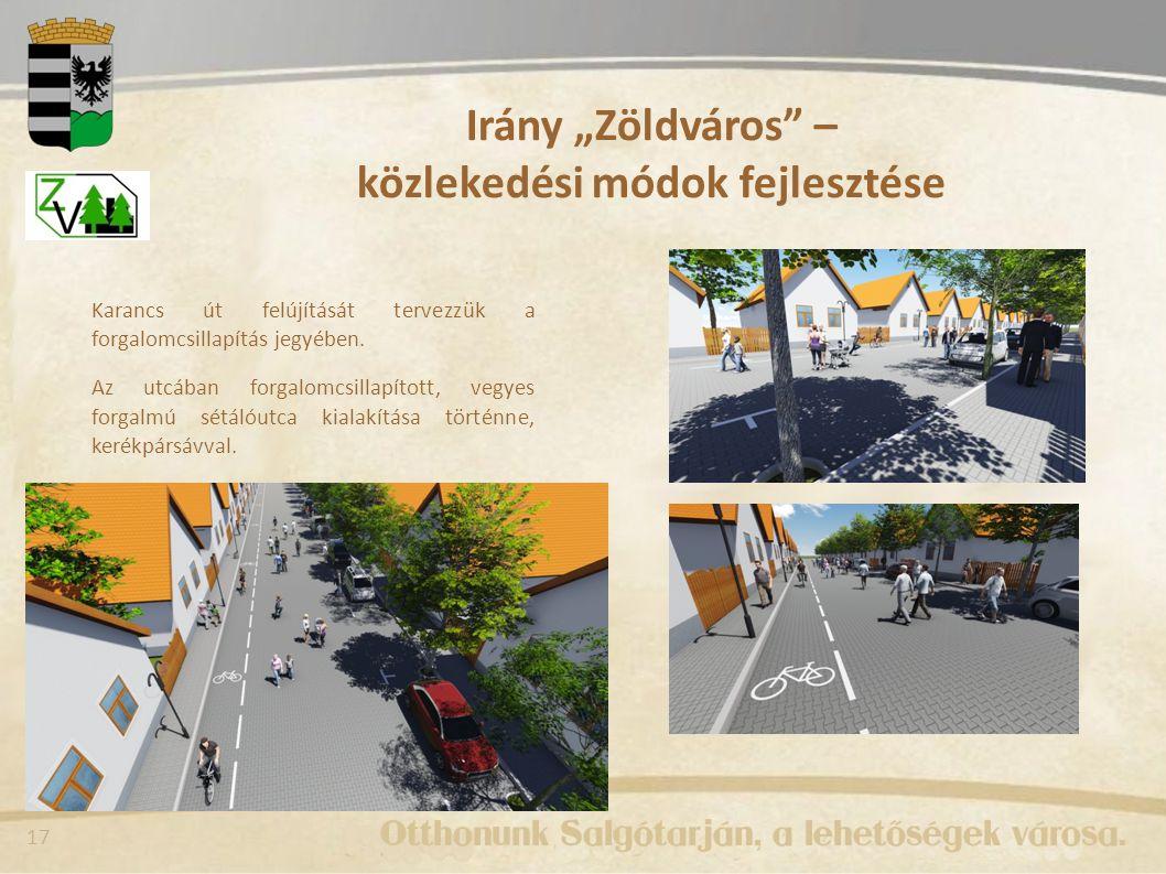 """Irány """"Zöldváros – közlekedési módok fejlesztése"""