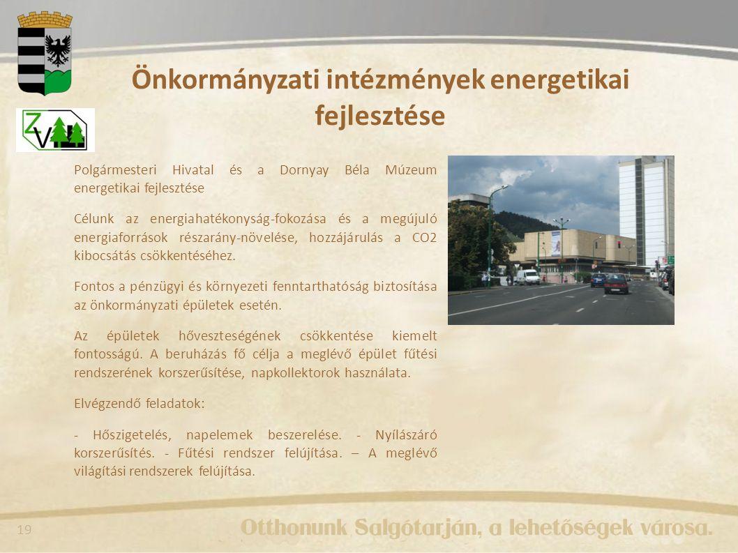 Önkormányzati intézmények energetikai fejlesztése