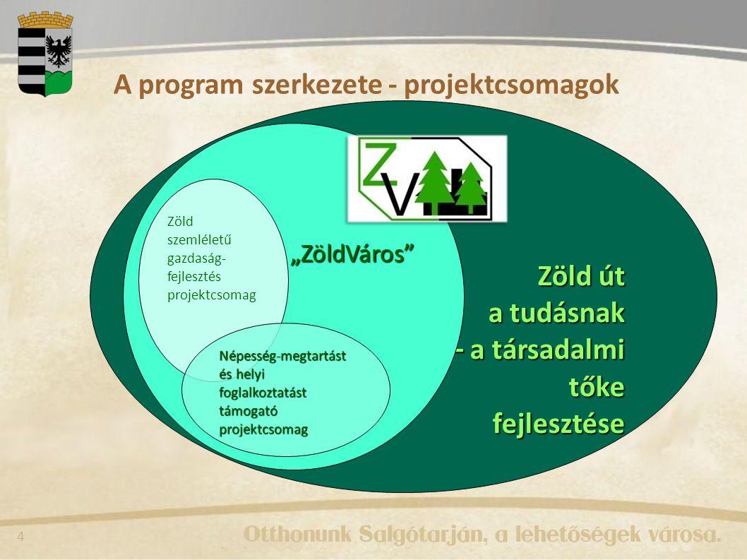 A program szerkezete - projektcsomagok