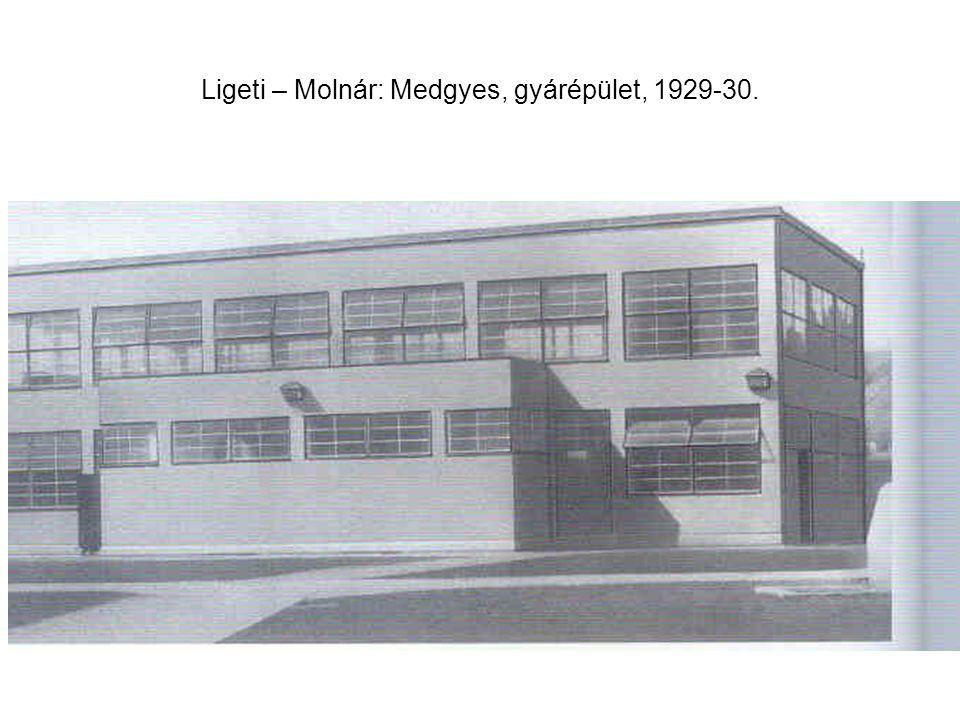 Ligeti – Molnár: Medgyes, gyárépület, 1929-30.