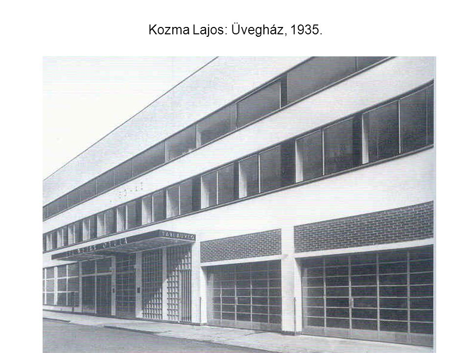 Kozma Lajos: Üvegház, 1935.