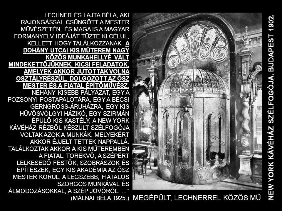 NEW YORK KÁVÉHÁZ SZÉLFOGÓJA, BUDAPEST 1902.