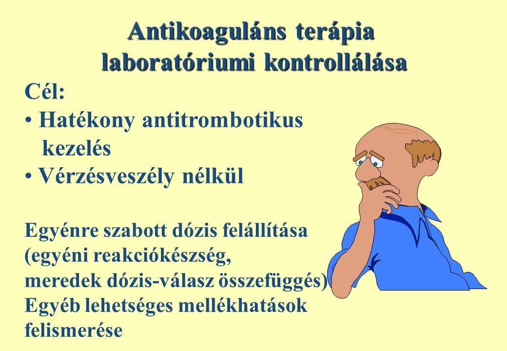 Antikoaguláns terápia laboratóriumi kontrollálása