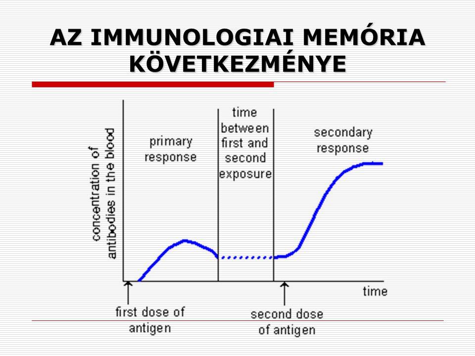AZ IMMUNOLOGIAI MEMÓRIA KÖVETKEZMÉNYE