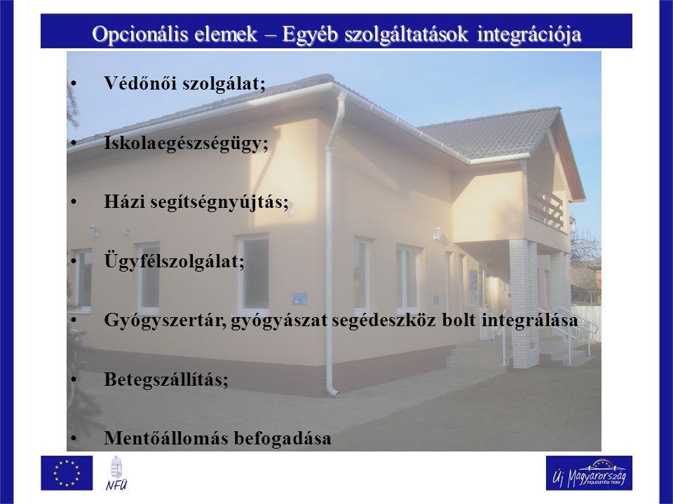 Opcionális elemek – Egyéb szolgáltatások integrációja