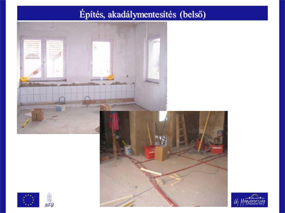 Építés, akadálymentesítés (belső)