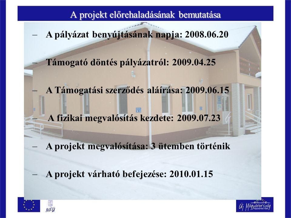 A projekt előrehaladásának bemutatása