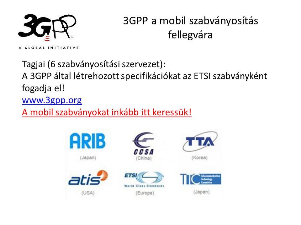 3GPP a mobil szabványosítás fellegvára