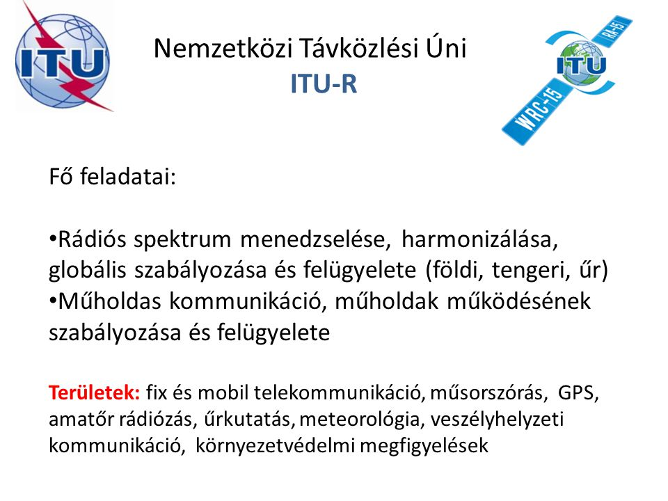 Nemzetközi Távközlési Únió ITU-R