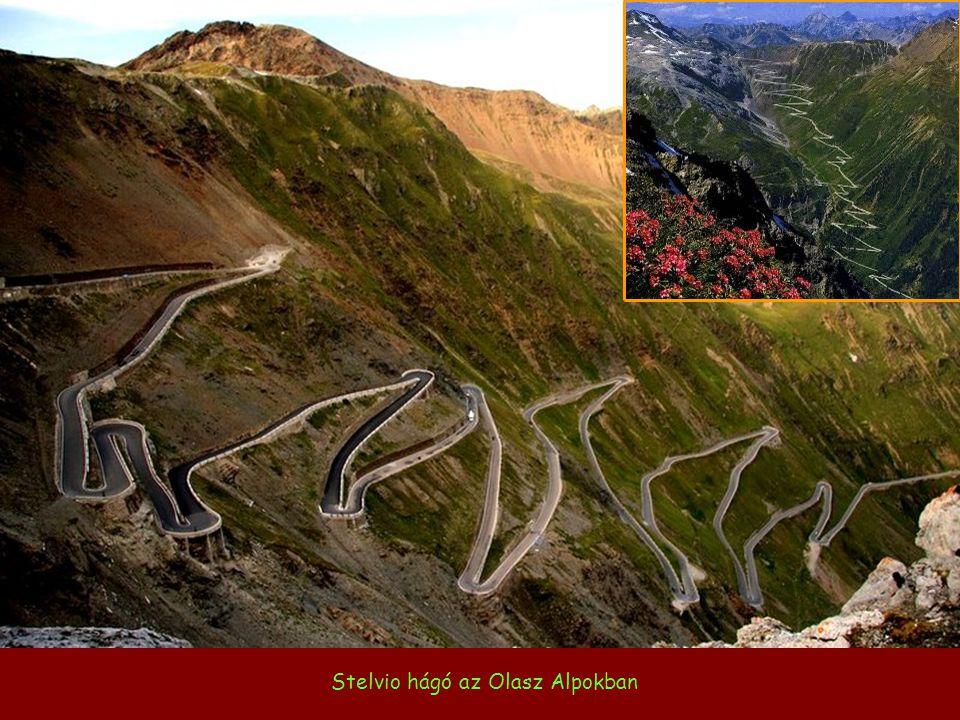 Stelvio hágó az Olasz Alpokban