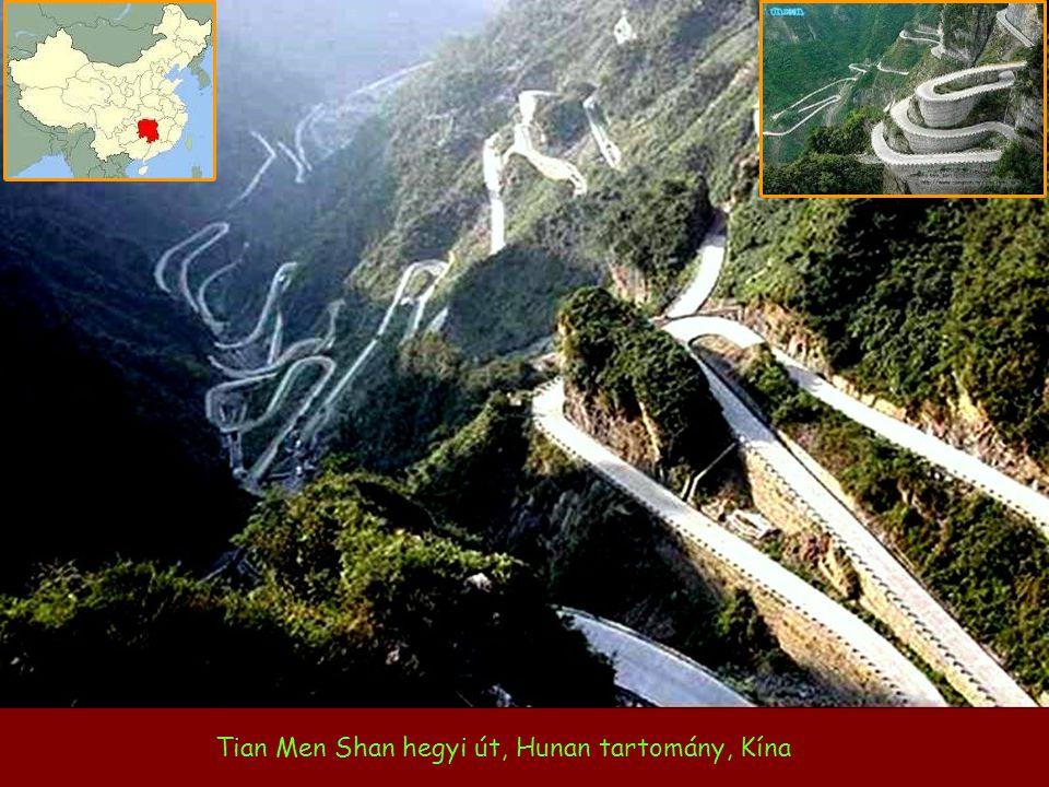 Tian Men Shan hegyi út, Hunan tartomány, Kína