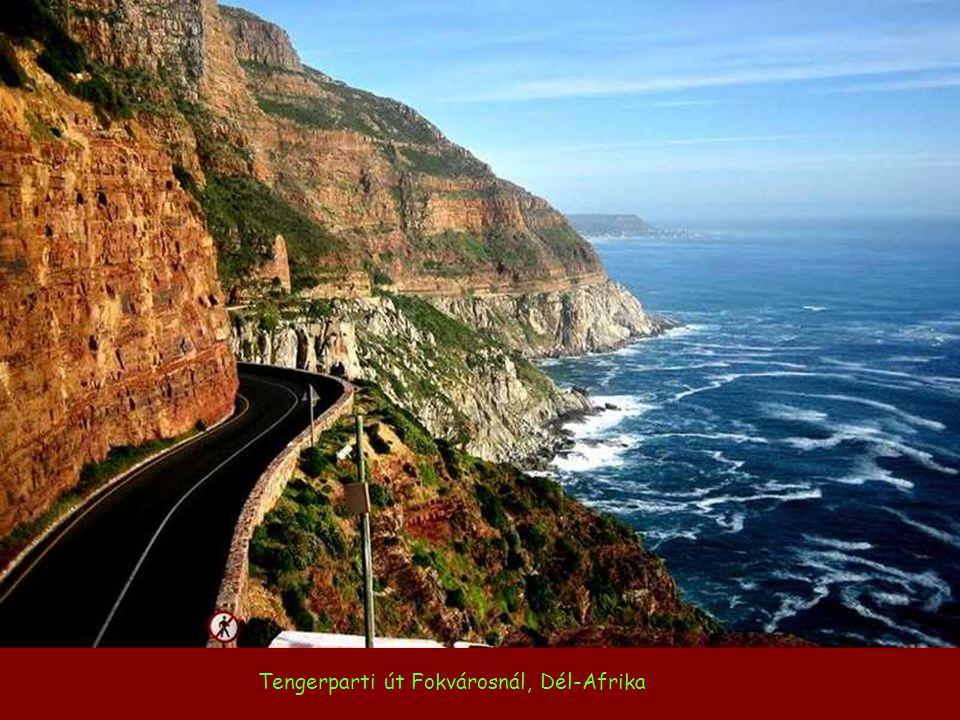 Tengerparti út Fokvárosnál, Dél-Afrika