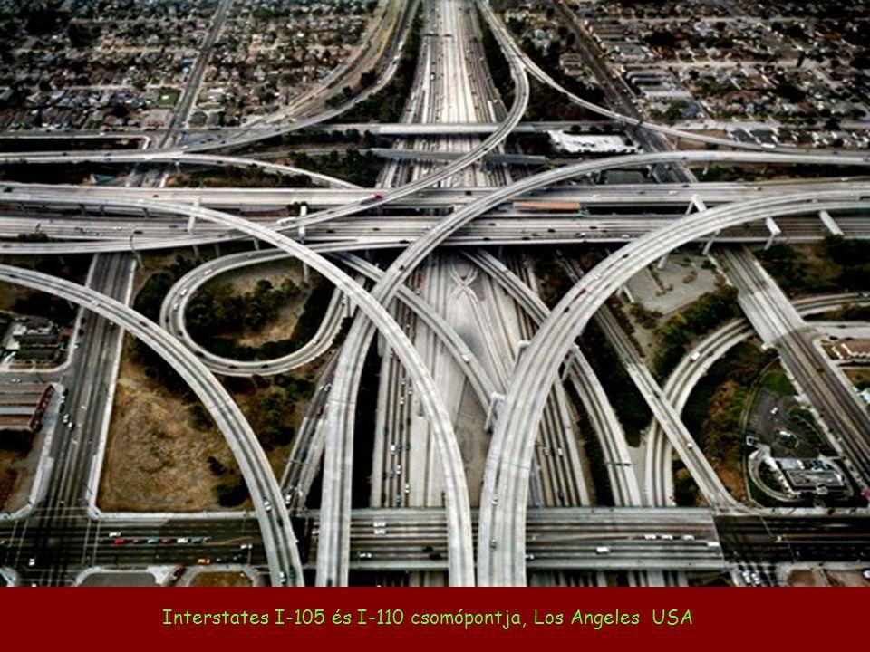Interstates I-105 és I-110 csomópontja, Los Angeles USA