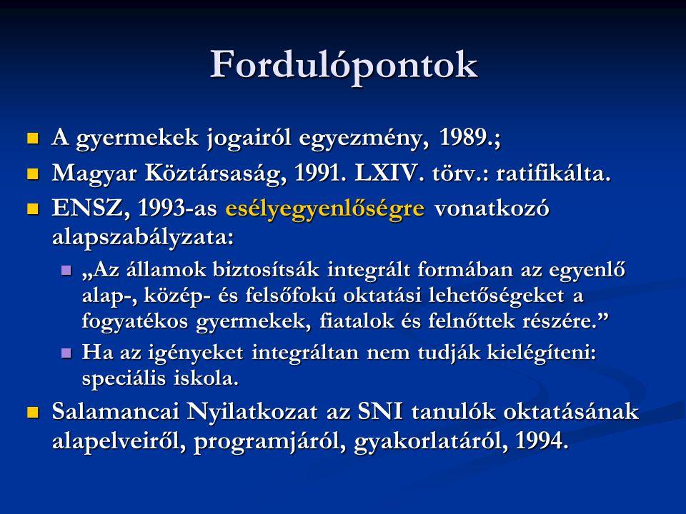 Fordulópontok A gyermekek jogairól egyezmény, 1989.;